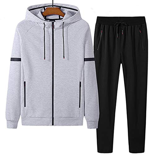 Wofupowga Mens Thin Waterproof Outdoor Sport Two Pieces Tracksuit Set