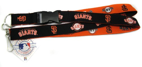 (Pro Specialties Group MLB San Francisco Giants Two Tone Lanyard, Black, One Size)