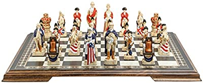 American Revolutionary War Chess Set - Handmade and Hand Painted - 4.25 Inches