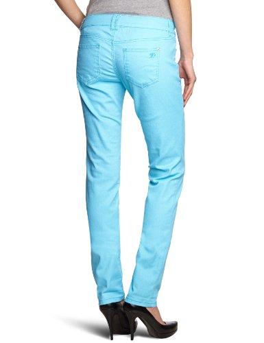 Tom Tailor - Vaqueros skinny para mujer Fresh Neon Blue 6613