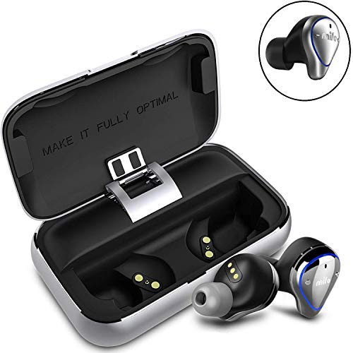 Wireless Earbuds, Mifo O5 Bluetooth 5.0 IPX7 Waterproofed Bluetooth Earbuds,HiFi Stereo in-Ear Earphones w/Mic, 100 Hours Playback Noise Cancelling Headsets2600mAH Charging Case,Warranty(Professional)