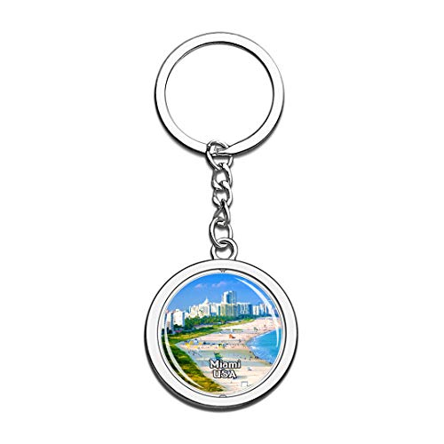 USA United States Keychain Miami Beach Key Chain