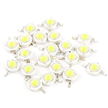 uxcell® 20 Pcs Pure White Light SMD LED Bead Chip Bulb Lamp 3.0-3.6V 350mA 1W
