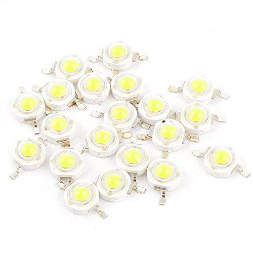 20 Pcs Pure White Light SMD LED Bead Chip Bulb Lamp 3.0-3.6V 350mA 1W