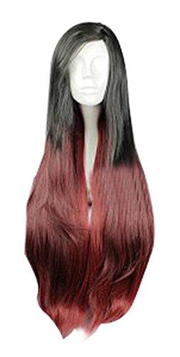 Katarina Lol Cosplay Costume (Mtxc League of Legends Cosplay Katarina Wig Black Mixed Red)