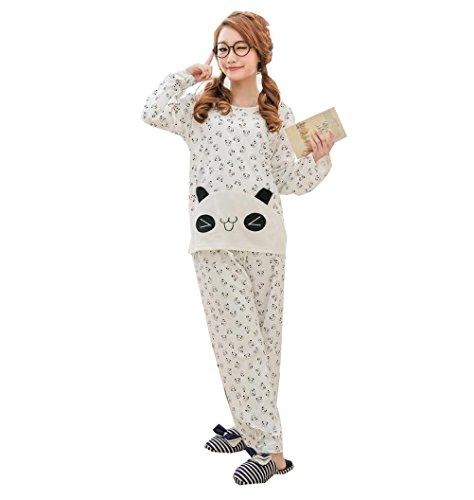 26377383bd8 Big Girls Teen Girls Cute Panda Sleepwear Pajama Pants Long Sleeve Home  Casual Pjamas Set