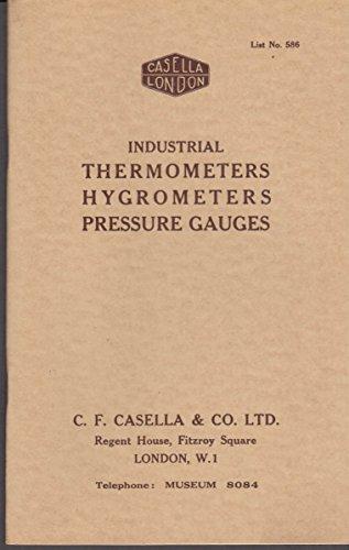 Casella London Industrial Thermometers Hygrometers Pressure Gauges catalog ()
