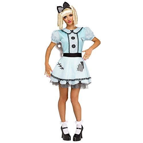 Fun World Women's Wind-Up Doll, Multi, M/L Size 10-14 -