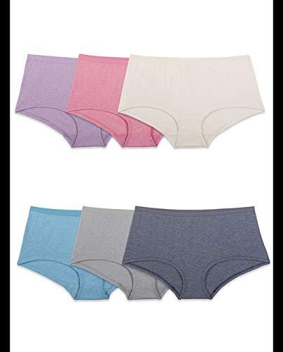 Fruit of the Loom Women's BeyondSoft Boyshort Assorted - 6 Pack, Asstorted, 7 (Fruit Of The Loom Microfiber Boy Shorts)