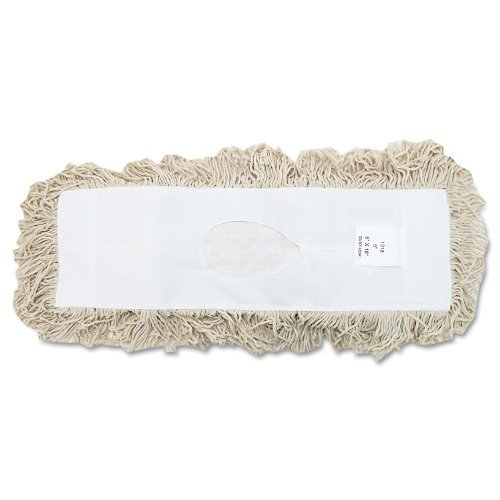 (UNISAN Industrial Dust Mop Head, Hygrade Cotton, 18 Width x 5 Depth, White (1318) by Unisan )