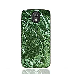 HTC Desire 526 G Plus TPU Silicone Case With Green Marble Texture Design.