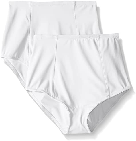 Ellen Tracy Women's Classic Comfort Brief with Extra Tummy Hold (Pack of two)