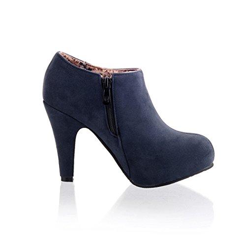 alto opaco stivali lato QXEuropa zipper ZQ in ms blue tacco scarpe stivali impermeabili O1wAHY