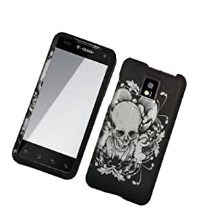 Skull/ Angel 2D Texture Hard Protector Case Cover For Lg Optimus G2X