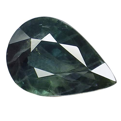 thaigeneration 2.07 Ct. Natural Pear Blue Green Sapphire Thailand Loose Gemstone ()