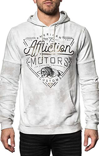 Affliction AC Cali Motors Long Sleeve Graphic Fashion Pullover Hood Jacket For Men