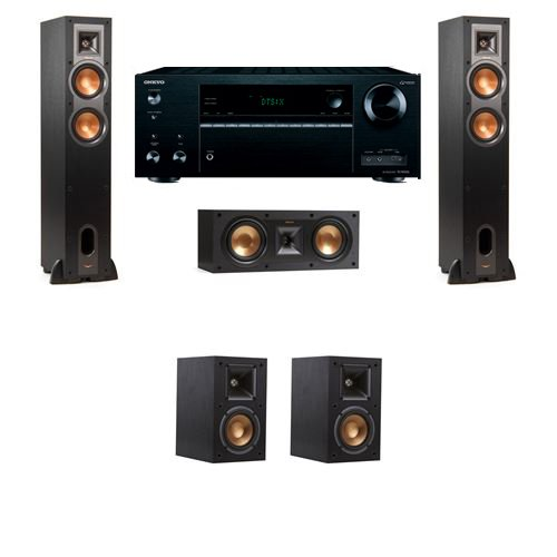 Klipsch R-24F Floorstanding Speakers 5.0 with Onkyo TX-NR656