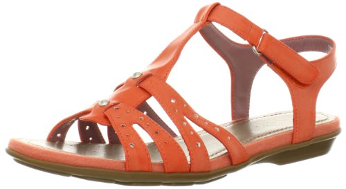 Easy Spirit Women's Remember T-Strap Sandal,Orange,6 M US