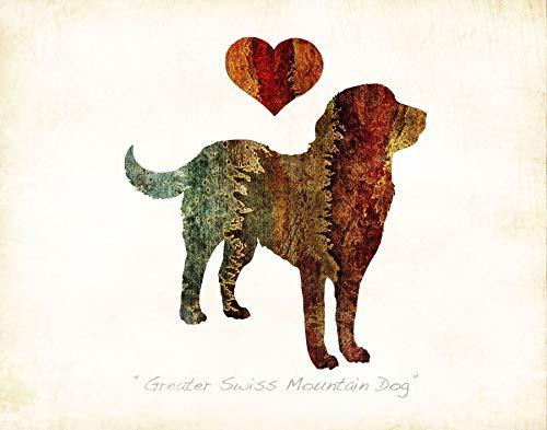 Mountain Dog Watercolor - GREATER SWISS MOUNTAIN DOG #2 Watercolor Art Print by Dan Morris