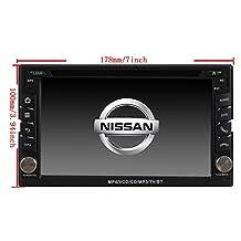 TamYu 6.2 Inch Touchscreen Monitor Car GPS Navigation System for NISSAN TIIDA/QASHQAI/SUNNY/X-TRAIL/PALADIN/FRONTIER/PATHFINDER/PATROL/TREEANO/VERSA/MICRA/MURANO/350Z/LIVINA/NAVARA/MP300/SENTRA/NV200 Car Stereo DVD Player+Free Backup Rear View Camera+Free US Map