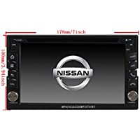 6.2 Car GPS Navigation System for Nissan Pathfinder/Nissan Frontier/ Nissan Versa /Nissan Murano/Nissan 350z/Nissan Sentra/ Nissan Nv200 Car Stereo DVD Player+Free Rear View Camera+Free US Map