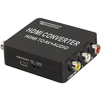 tendak hdmi to av 3rca video converter with audio extractor toslink spdif coaxial. Black Bedroom Furniture Sets. Home Design Ideas