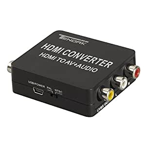 Tendak HDMI to RCA Converter with Audio Extractro Optical Toslink SPDIF + Coaxial + R/L Audio HDMI to AV/CVBS/3RCA Composite Video Adapter for STB Blu-ray DVD Xbox PS3 PS4 Games