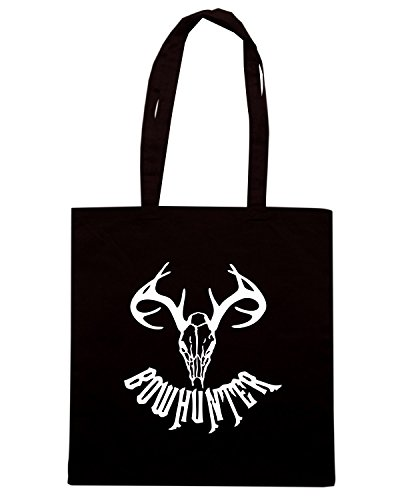 T-Shirtshock - Bolsa para la compra FUN0851 bow hunter vinyl decal sticker 93298 Negro