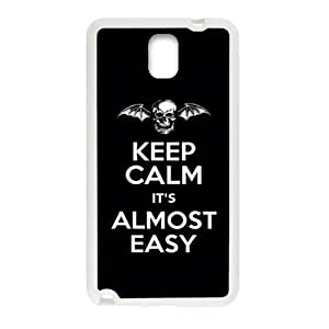 keep calm it's almost easy Phone Case for Samsung Galaxy Note3 Case