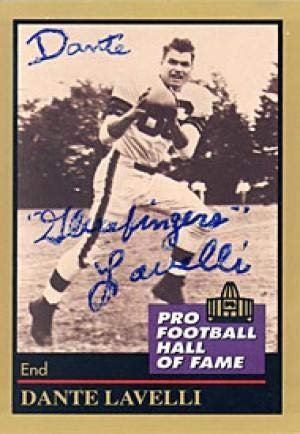 Dante Lavetti Autographed 1991 ENOR Pro Football Hall of Fame Card #85 - Clveland Browns - Autographed Football Cards
