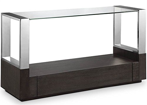 Magnussen Revere Glass Top Entryway Table with Storage