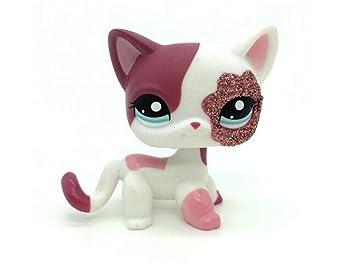 WOOMAX Littlest Pet Shop Juguete LPS 2 Rosa Blanco Brillo ...