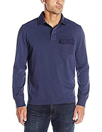 Nautica Mens Slim Fit Long Sleeve Deck Polo Shirt