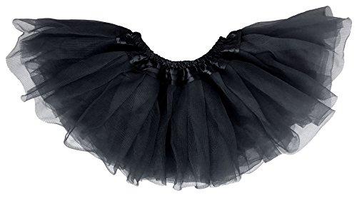 [Dancina Tutu Baby Newborn Girl Ballerina Classic Ballet Dance Dress Up Tulle Skirt 6-24 months Black] (Girls Black Tulle Tutu)