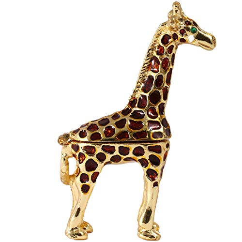 YU FENG Ring Holder Hinged Trinket Boxes for Gifts,Jewelry Boxes Organizer Display Holder (Giraffe Trinket Box) ()
