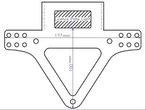 Honda NC 700 X//S NC 750 Support de Plaque License Plate Holder