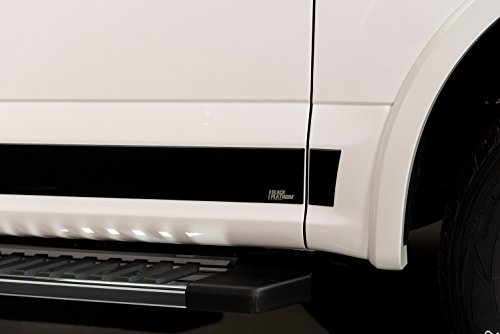 Plat Panel - Upgrade Your Auto 10pc Putco Black Plat Rocker Panel Set for 15-17 Ford F150 Regular Cab 8' Box