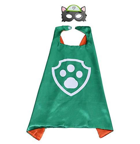 Astra Gourmet Paw Dog Patrol Cape and Mask Costume Set - Dress Up Comic Cartoon Superhero Costume for Kids (Rocky)]()