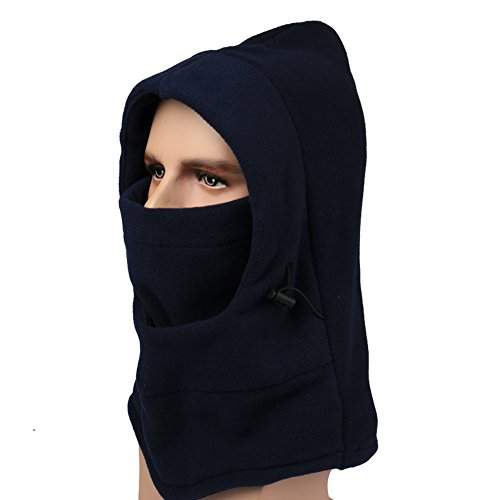 Crazy Cart Motorcycle Fleece Neck Cold Winter Ski Full Face Mask Cover Hat Cap (Skull Bride Mask With Hair)