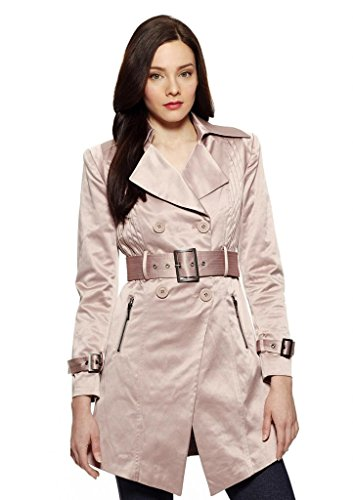 RUNWAY Cotton Blend Sateen Trench Coat, XL, Dusty - Trench Sateen