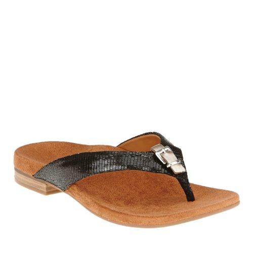 Orthaheel Vionic Lima - Womens Heeled Sandal - Orthaheel Black Lizard - 5