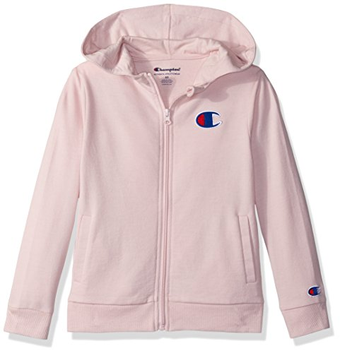Champion Little Girls' Heritage French Terry Logo Hoodie, Chalk Pink, 6