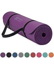 Gaiam Essentials - Esterilla de yoga gruesa para fitness y ejercicio con correa de transporte para esterilla de yoga, 182 cm de largo x 60 cm de ancho x 6 cm de grosor