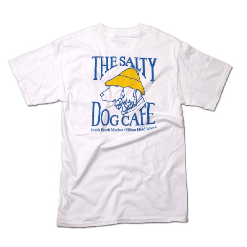 Salty Dog Hanes Beefy-t - Medium, White (T-shirts Dog Salty)