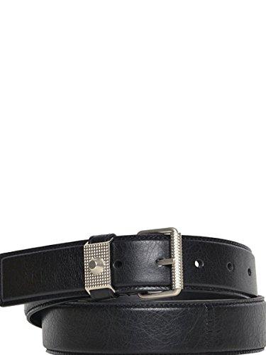 Balenciaga Men's 358355D94041000 Black Leather Belt
