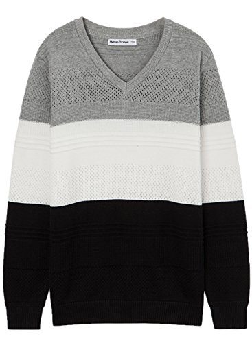 meters-bonwe-mens-v-neck-long-sleeve-color-block-pullover-sweater-grey-xxl