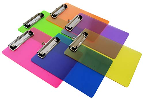Mini Multicolored Clipboards, By Dondor Set of 6 (9