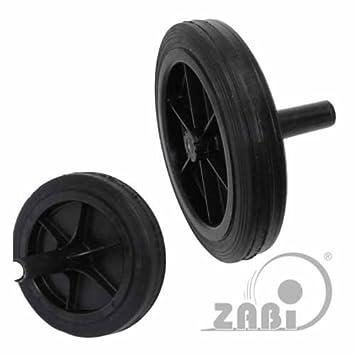 ZAB de S contenedores de basura Cubo ruedas con/sin eje accesorios piezas de repuesto, polipropileno, 60TK-A: Amazon.es: Hogar