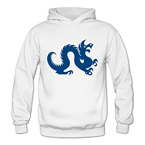 QK Drexel Dragon Logo University Women's Fashion Hoodies White M