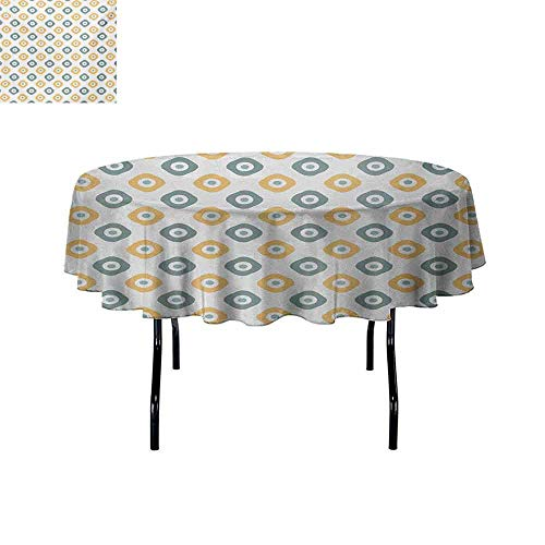 Gloria Johnson Vintage+Waterproof+Anti-Wrinkle+no+Pollution+Stylish+Evil+Eye+Bead+Amulet+Like+Figures+Cubical+Rounded+Dotted+Round+Tablecloth+Almond+Green+Apricot+Mustard+